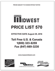 Maass Midwest Price List 570